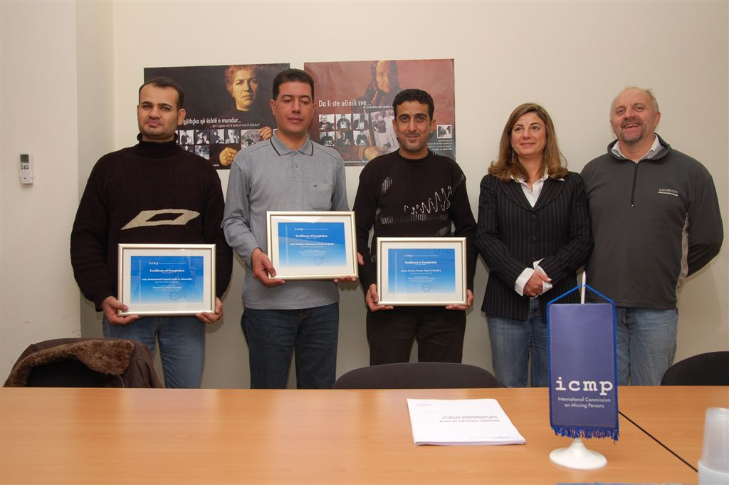 Iraqi Human Rights Ministry staff receive certificates of training completion in Sarajevo, Bosnia and Herzegovina