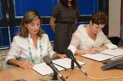 Signing of a donation agreement between ICMP and the Government of Germany in ICMP HQ in Sarajevo.