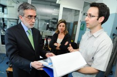 Chilean Ambassador to Hungary His Excellency Rodrigo Nieto Maturana during his tour of ICMP's DNA laboratory in Sarajevo.