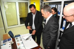 UK Ambassador Michael Tatham visits Podrinje Identification Project in Tuzla.