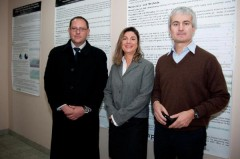 EULEX's Silvio Bonfigli and Alan Robinson in ICMP HQ with ICMP Director General Kathryne Bomberger
