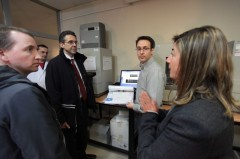 Swedish delegation toured ICMP's lab.