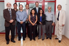 Delegation from El Salvador in HQ of the ICMP
