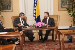 ICMP's Chairman Thomas Miller and the Chariman of the BiH Presidency Bakir Izetbegovic