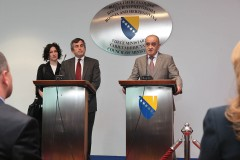 ICMP's Chariman Thomas Miller and the Chairman of the BiH Council of Ministers Vjekoslav Bevanda