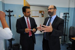 Dr. Azmi during the visit