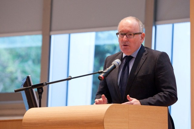 The Dutch Minister of Foreign Affairs Mr. Frans Timmermans at the conference