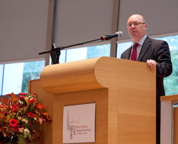 Mr. Alistair Burt MP speaking at the conference