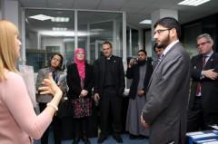 Delegacija tokom obilaska ICMP-ove DNK laboratorije u Sarajevu.