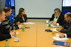 Bomberger and Gadur met in ICMP's headquarters