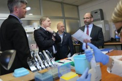 Tour of ICMP's main laboratory in Sarajevo