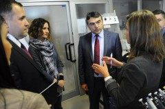 Mr. Salihovic during the visit to ICMP's DNA laboratory