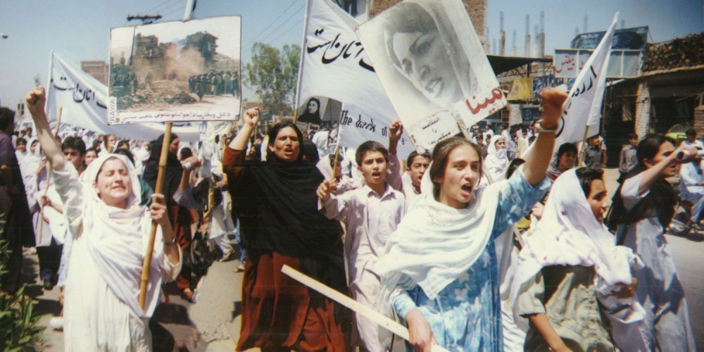 RAWA_protest_rally_against_Taliban_in_Peshawar_April28-1998